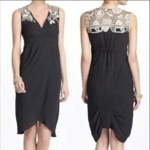 Anthropologie Meadow Rue Black Tulip Hem Dress